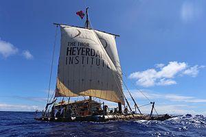 Kon-Tiki2 - Balsa raft Tupaq Yupanqui sailing from Peru to Easter Island December 2015