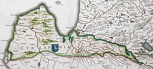 Duchy of Courland and Semigallia - German map of Duchy of Courland and Semigallia (about 1600)