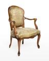 Länstol, 1700-talets mitt - Hallwylska museet - 110049.tif