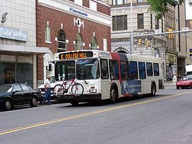 A Lanta Bus In Downtown Easton 2005