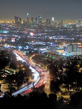 Electrolite - Los Angeles at night, as viewed from Mullholland Drive