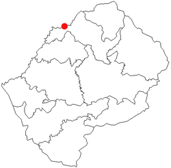 Location of Maputsoe in Lesotho.