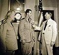 LT Draper L. Kauffman, USNR, is presented the Navy Cross by Frank Knox 1942 (23177619235).jpg