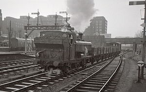 Lillie Bridge Depot - Image: LT steam L92 Olympia 1968