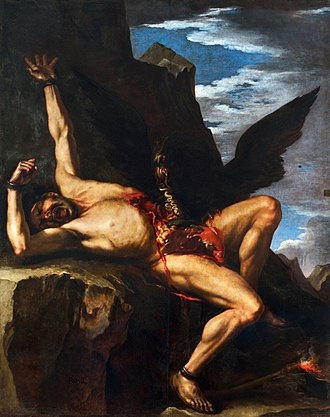 Prometheus - The Torture of Prometheus, painting by Salvator Rosa (1646-1648).