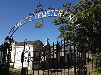 Uptown New Orleans - The front gates to Lafayette Cemetery No. 1