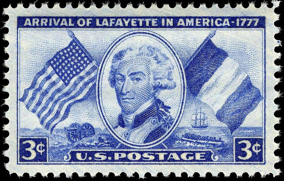 Lafayette stamp 3c 1952 issue