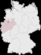 Lage der kreisfreien Stadt Münster in Deutschland