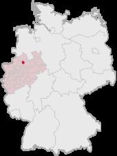 明斯特在德國的位置