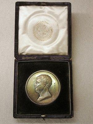 Telford Medal - Telford Medal, in Lake Biwa Canal Museum of Kyoto, Japan