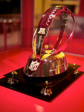AFC Championship Game - The redesigned Lamar Hunt Trophy, awarded since 2010-11 season.