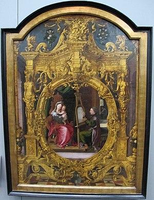 Lancelot Blondeel - Saint Luke portrays the Virgin by Lancelot Blondeel, Groeningemuseum, 1545