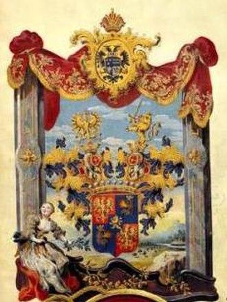 Karolina Lanckorońska - Coat of arms of Counts Lanckoroński