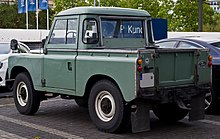 Land Rover Series III Pick Up – Heckansicht, 5. Juli 2014, Düsseldorf.jpg