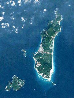Nii-jima island in Izu Ilands, Tokyo, Japan