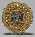Langobardic - Fibula with an Enamel Bust - Walters 44255.jpg