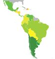 Latin American Countries by Human Development Index 2014.png