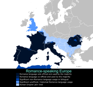 Romanization (cultural) - Romance languages in Europe