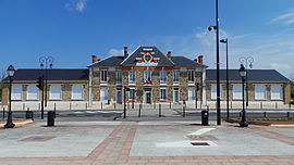 The town hall of Le-Coudray-Montceaux