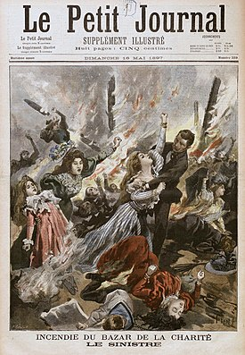 «Incendie du Bazar de la Charité. Le sinistre.»Le Petit Journal. 10 mai 1897.