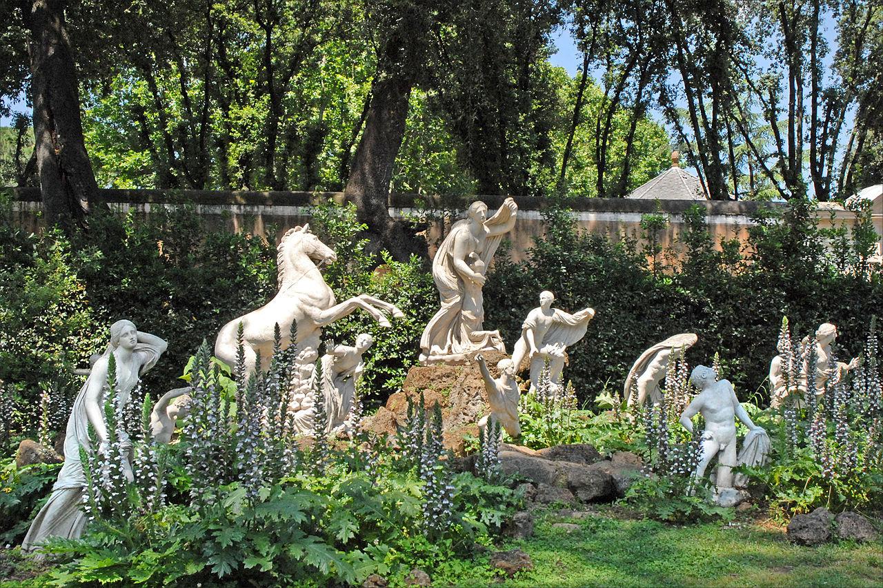 File le carr des niobides de la villa m dicis rome for Jardin villa medicis rome