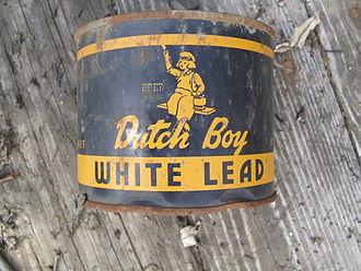 Lead paint - Dutch Boy Paint logo (front)