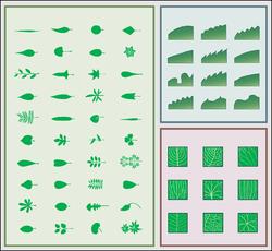 En oversigt over bladenes forskelligheder til venstre bladformer