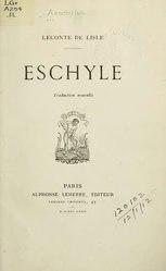 Eschyle: Théâtre complet
