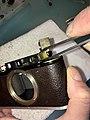 Leica II D aka Couplex rangefinder miror replacement (33498843991).jpg