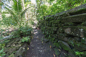 National Register of Historic Places listings in the Federated States of Micronesia - Image: Lelu Ruins, Kosrae, Micronesia