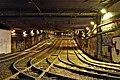 Lemonnier premetro station rails tunnel in Brussels, BE (DSCF5655).jpg