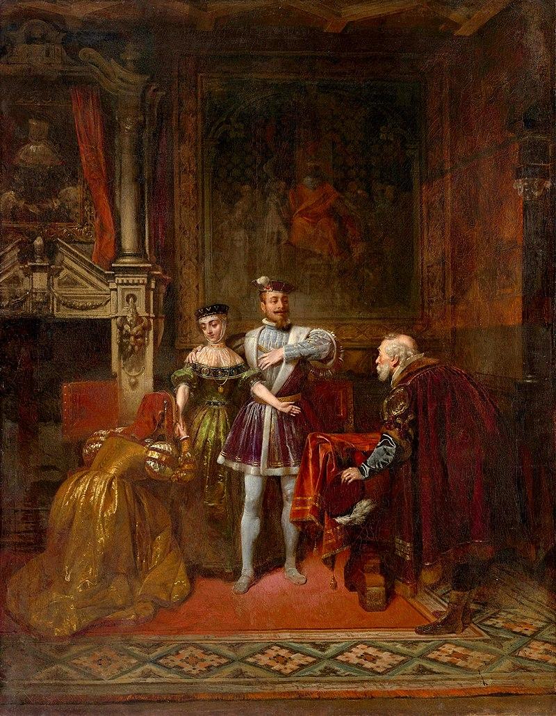 Leonard Straszyński - Pojednanie Kmity z królem Zygmuntem Augustem.jpg