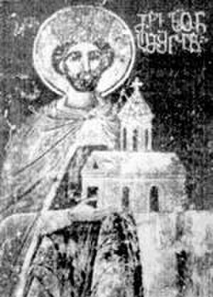 Levan of Kakheti - Levan of Kakheti. Mural from Gremi.