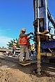 Levee work begins at Howe Ave. bridge (14542790363).jpg