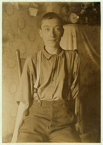 Occupational safety and health - Harry McShane, age 16, 1908. Pulled into machinery in a factory in Cincinnati and had his arm ripped off at the shoulder and his leg broken without any compensation.