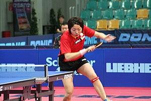 Li Jiawei - Li in action at the ITTF Pro Tour Liebherr Austrian Open in Wels, Austria, on 28 October 2007