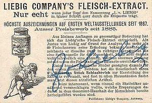 Trade card - Image: Liebig back