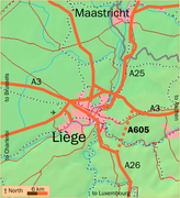 A605 near Liège, currently under construction
