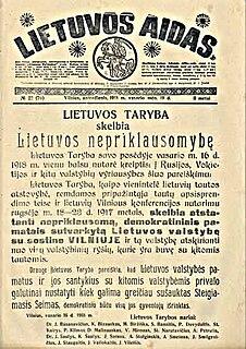 <i>Lietuvos aidas</i> periodical literature