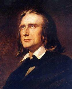 Liszt Ferenc 1856-ban (Wilhelm von Kaulbach festménye)