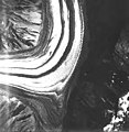 Lituya Glacier, tidewater with wide moraines, August 12, 1980 (GLACIERS 5614).jpg