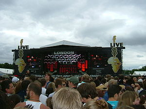 The main Live 8 concert in Hyde Park on 2 July...