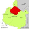 Localització d'Utiel respecte de la Plana d'Utiel.png