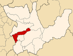 Location of Dos de Mayo in the Huánuco Region