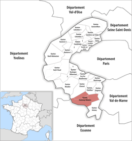 Locator map of Kanton Châtenay-Malabry.png