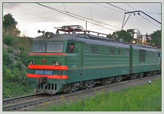 Railway electrification in the Soviet Union - VL10 DC locomotive