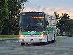 Logan Express bus on Atlantic Avenue, Woburn, August 2015.JPG
