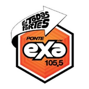 XHRE-FM (Coahuila) - Image: Logo EXA FM 105.5 Piedras Negras, Coahuila