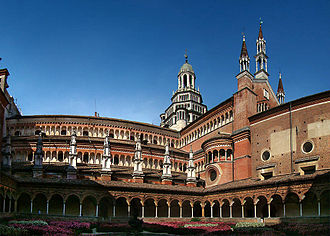 Certosa di Pavia - The Certosa di Pavia as seen from the Small Cloister