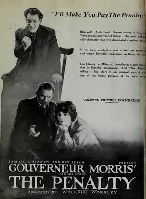 The Penalty (1920 film) - Magazine advertisement